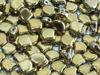 Ginko 7.5x7.5mm Yellow Gold - Crystal - 10 sztuk