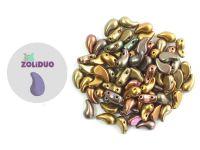 Zoliduo (Right) Matte Metallic Iris Gold 5x8 mm - 10 sztuk