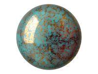 Cabochon par Puca Opaque Blue Turquoise Bronze - 1 sztuka