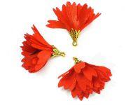 Kwiatek jasnoczerwony 30 mm - 1 sztuka