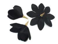 Kwiatek czarny 55 mm - 1 sztuka