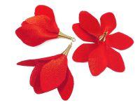 Kwiatek ciemnoczerwony 55 mm - 1 sztuka
