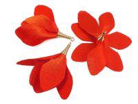 Kwiatek czerwony 55 mm - 1 sztuka