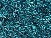PRECIOSA Bugle 2-Silver-Lined Teal Blue - 10 g