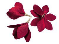 Kwiatek bordowy 55 mm - 1 sztuka