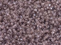 Miyuki Square 1.8mm-215 Inside-Color Crystal - Blush Lined - 5 g