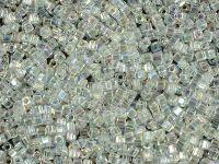 Miyuki Square 1.8mm-250 Trans-Rainbow Crystal - 5 g