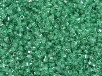 Miyuki Square 1.8mm-219 Inside-Color Crystal - Mint Lined - 5 g