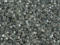 Miyuki Square 1.8mm-242 Sparkling Metallic Pewter Lined Crystal  - 5 g