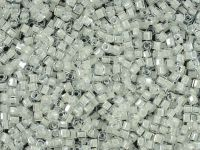 Miyuki Square 1.8mm-1104 Inside-Color Crystal - Snow Lined - 5 g