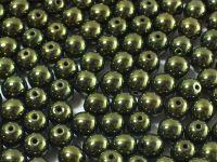 Round Beads Luster - Metallic Olivine 6 mm - 20 sztuk