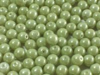 Round Beads Luster - Metallic Lt Green 6 mm - 20 sztuk