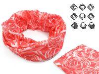 Komin wielofunkcyjny bandana w róże