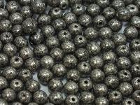 Round Beads Jet Silver Patina 4 mm - opakowanie