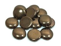 2-hole Cabochon Dark Bronze 18mm - 2 sztuki