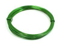 Drut jubilerski aluminiowy 0.8 mm zielony - 10 m
