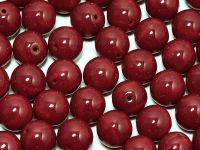 Round Beads Opaque Dark Red 8 mm - 10 sztuk