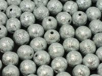 Round Beads Etched Silver 8 mm - 10 sztuk
